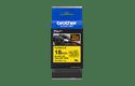 Casetă cu bandă de etichete originală Brother TZe-FX641 – negru pe galben flexibilă ID, lățime de 18mm 3