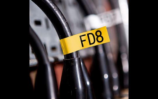 Oryginalna taśma identyfikacyjna Flexi ID TZe-FX651 firmy Brother – czarny nadruk na żółtym tle, 24mm szerokości 4