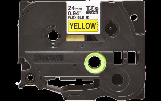Originální flexibilní ID páska Brother TZe-FX651 - černý tisk na žluté, šířka 24 mm 2
