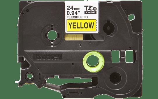 Nastro identificativo flessibile originale Brother TZe-FX651 – Nero su giallo, 24 mm di larghezza