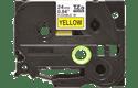Brother TZeFX651: оригинальная кассета с гибкой лентой для печати надписей черным на желтом фоне, ширина: 24 мм.