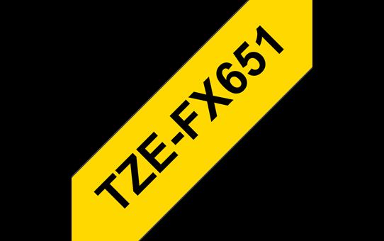 TZe-FX651 ruban d'étiquettes flexibles 24mm
