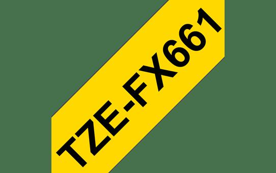 Brother TZe-FX661 Flexi-Tape – schwarz auf gelb 2