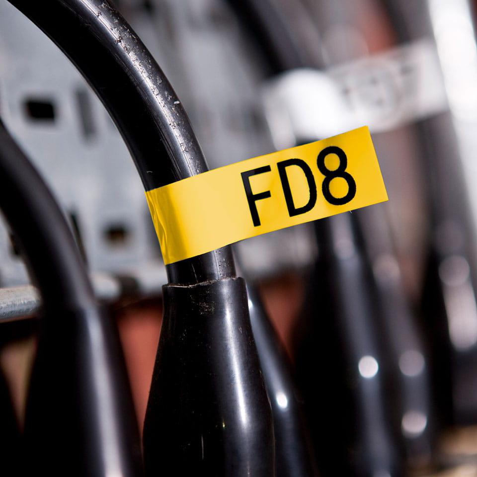 Casetă cu bandă de etichete originală Brother TZe-FX661 – negru pe galben flexibilă ID, lățime de 36mm 4