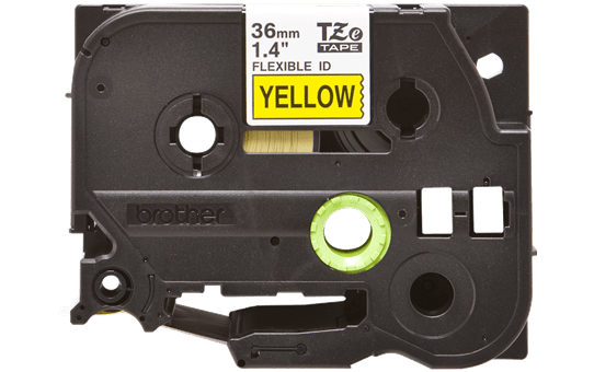 Genuine Brother TZe-FX661 Labelling Tape Cassette – Black on Yellow, 36mm wide 2