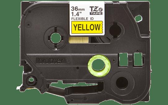 Original Brother TZeFX661 tape – sort på gul, 36 mm bred 2