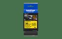 Brother TZe-FX661 - черен текст на жълта гъвгава лента, ширина 36mm 3