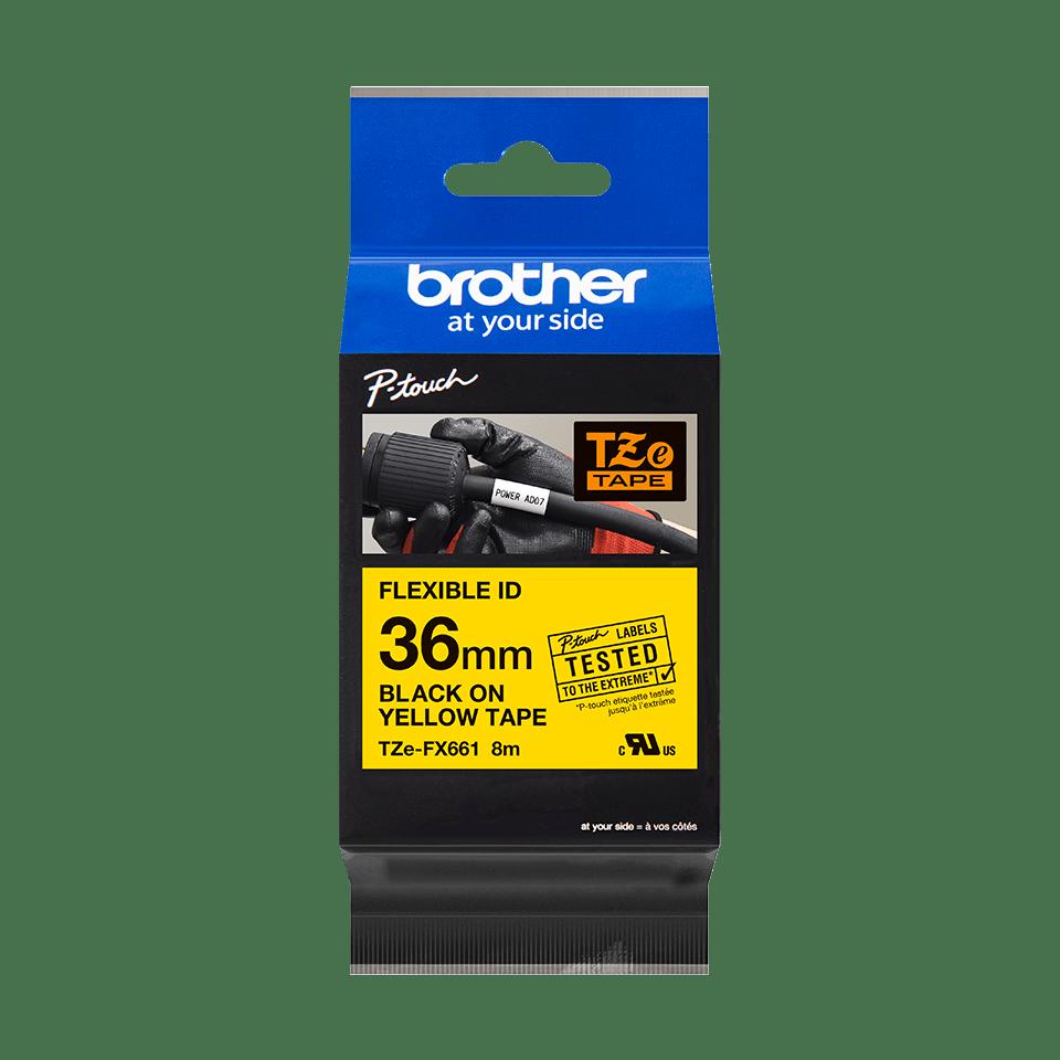 Brother TZe-FX661 Flexi-Tape – schwarz auf gelb 4