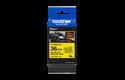 Casetă cu bandă de etichete originală Brother TZe-FX661 – negru pe galben flexibilă ID, lățime de 36mm 3
