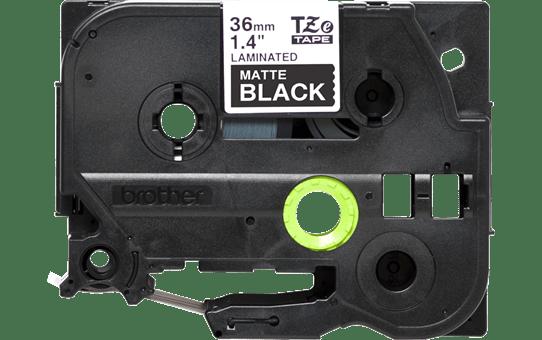 Genuine Brother TZe-M365 Labelling Tape Cassette – Matt Laminated White On Black, 36mm wide