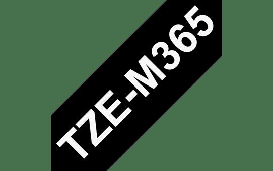 Original Brother TZeM365 merketape - hvit på sort matt, 36 mm bred