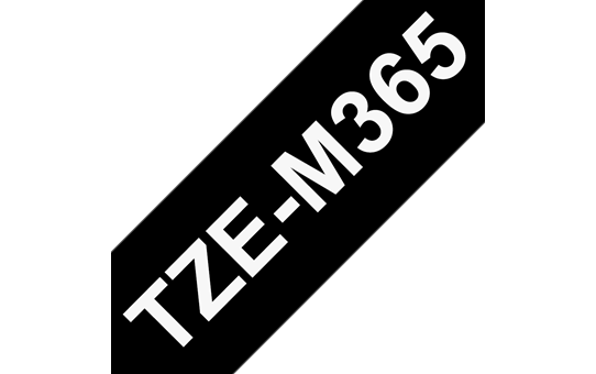 Genuine Brother TZe-M365 Labelling Tape Cassette – Matt Laminated White On Black, 36mm wide 3