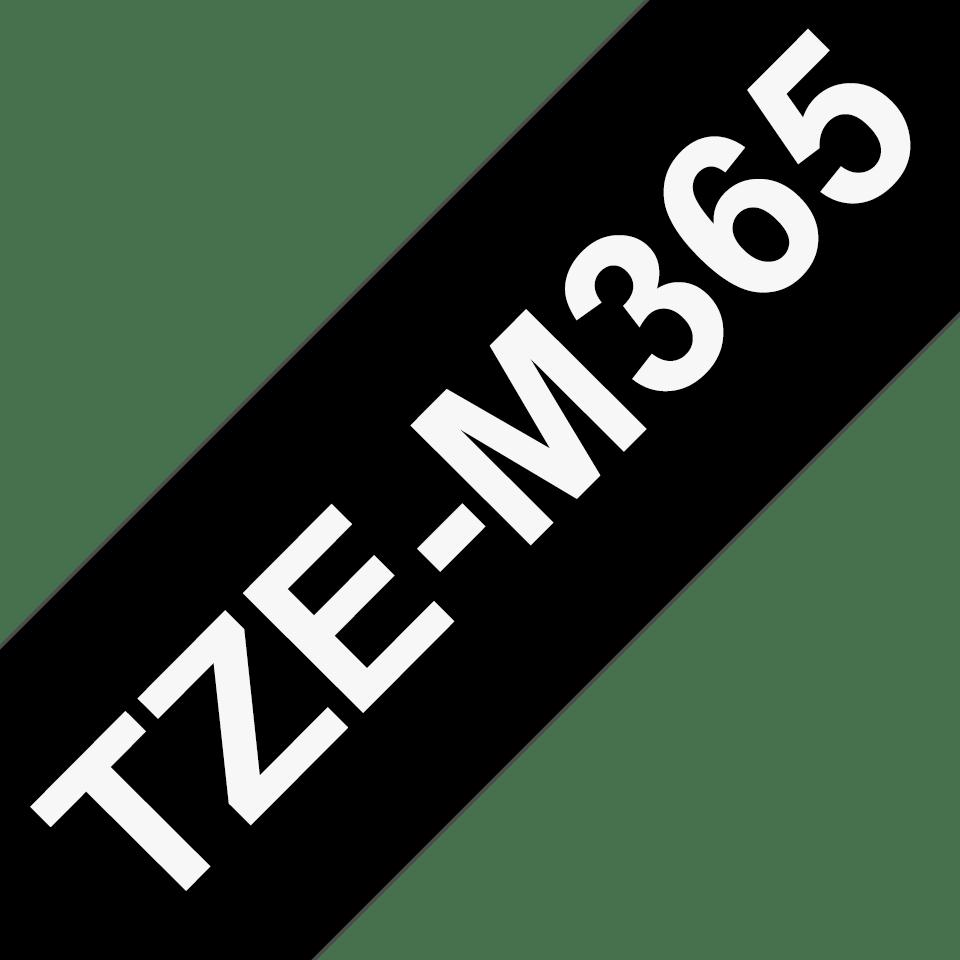 TZe-M365 mat gelamineerde labeltape wit op zwart – breedte 36 mm 3