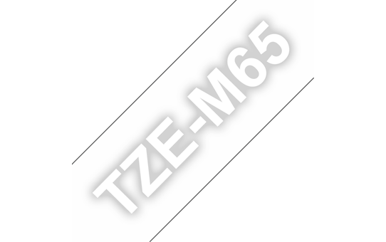 TZe-M65 mat gelamineerde labeltape wit op transparant – breedte 36 mm 3