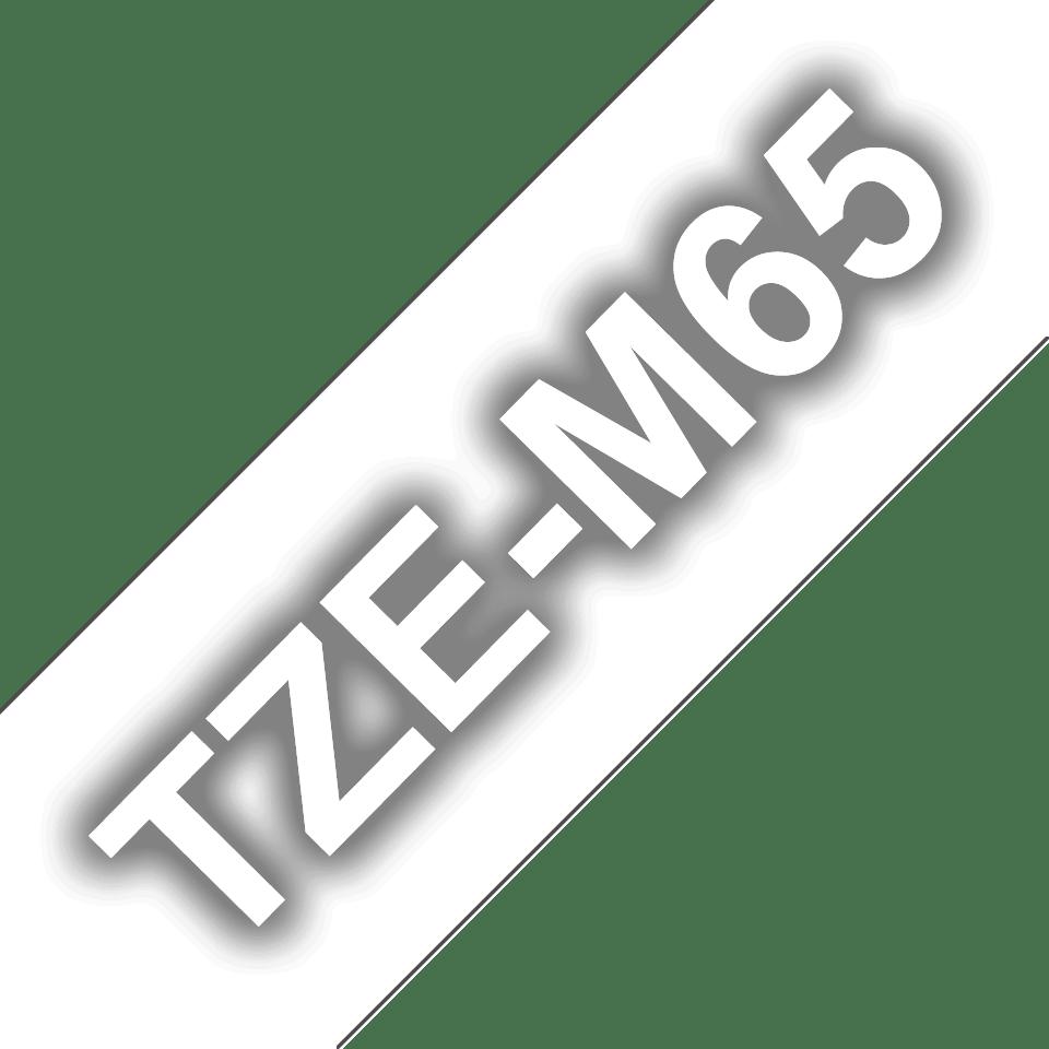 TZe-M65 mat gelamineerde labeltape wit op transparant – breedte 36 mm 3
