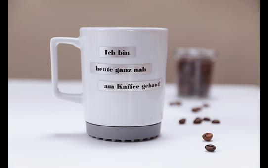 Brother TZe-M921 Schriftband – schwarz auf silber (matt)