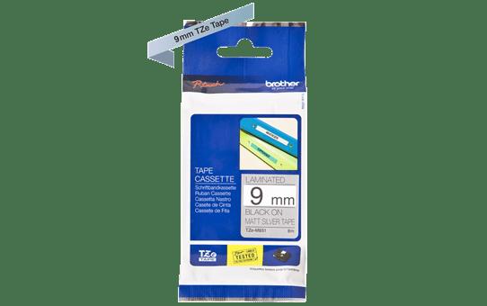 Genuine Brother TZe-M921 Labelling Tape Cassette – Black on Matte Silver, 9mm wide 3