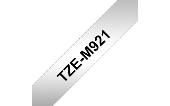 Genuine Brother TZe-M921 Labelling Tape Cassette – Black on Matt Silver, 9mm wide