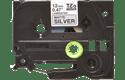 Brother TZeM931: оригинальная кассета для печати наклеек  черным на матовом серебристом фоне, ширина: 12 мм.
