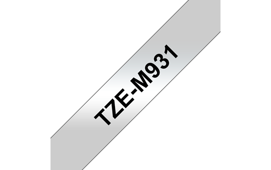 Genuine Brother TZe-M931 Labelling Tape Cassette – Black on Matte Silver, 12mm wide