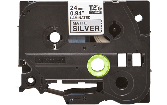 Genuine Brother TZe-M951 Labelling Tape Cassette – Black on Matte Silver, 24mm wide 2