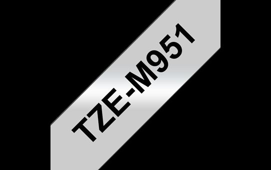 Cassette à ruban pour étiqueteuse TZe-M951 Brother originale – Noir sur argent mat, 24mm de large 3