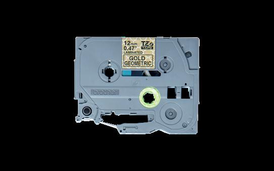 Original TZe-MPGG31 Schriftbandkassette von Brother – Schwarz auf Goldmuster, 12mm breit 2