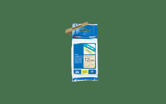 TZeMPGG31: оригинальная кассета с лентой для печати наклеек черным на золотистом фоне, ширина 12 мм.  2