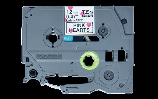 Brother TZe-MPPH31 Schriftband – schwarz auf rosa Herzen 3