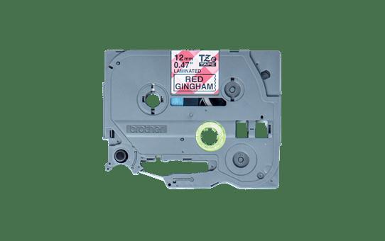 Originele Brother TZe-MPRG31 labeltape – zwart op rode ruit, breedte 12 mm 3