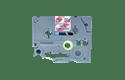 Original Brother TZe-MPRG31 label – sort på rødternet, 12 mm bred 2