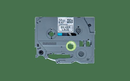 Cassette à ruban pour étiqueteuse TZe-MPSL31 Brother originale – Noir sur motifs dentelle argent, 12mm de large 2