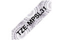 Genuine Brother TZe-MPSL31 Labelling Tape Cassette – Black on Silver Lace Patterned, 12mm wide