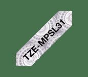 Brother TZe-MPSL31 Nastro originale - nero su motivo a merletto argentato, 12 mm di larghezza