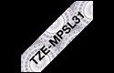 Originele Brother TZe-MPSL31 label tapecassette – zwart op zilver kant patroon, breedte 12 mm