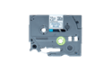 Oryginalna taśma TZe-MQ531 firmy Brother – czarny nadruk na jasno niebieskim tle, 12mm szerokości 2