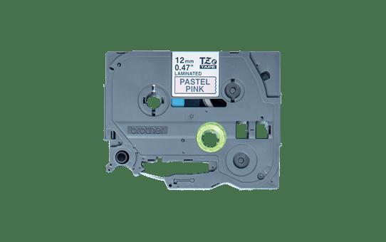 Cassette à ruban pour étiqueteuse TZe-MQE31 Brother originale – Noir sur rose pastel, 12mm de large.
