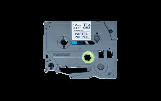 Cassette à ruban pour étiqueteuse TZe-MQF31 Brother originale – Noir sur violet pastel, 12mm de large 2
