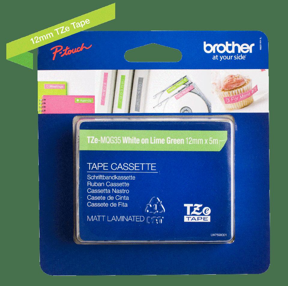 Originalna Brother TZe-MQG35 kaseta s trakom za označevanje 3