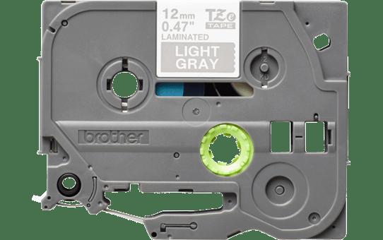 Brother TZe-MQL35 - бял текст на сива матирана лента, ширина 12mm 2