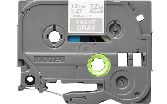 Brother original TZe-MQL35 etikettape - vit på grå, 12 mm bred