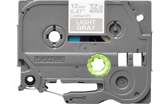 Alkuperäinen Brother TZe-MQL35 -tarranauha – valkoinen teksti harmaalla pohjalla, 12 mm.  2