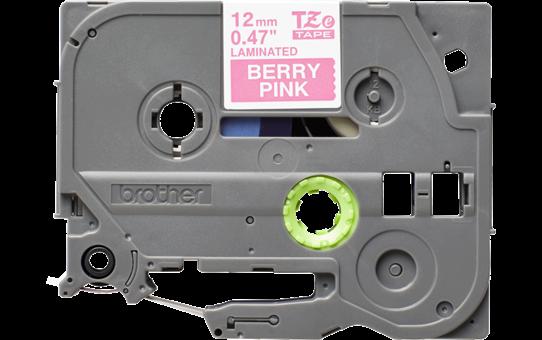 Brother TZe-MQP35 Nastro laminato opaco da 12 mm - bianco su rosa shocking