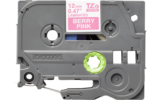 Originali Brother TZe-MQP35 ženklinimo juostos kasetė – baltos raidės rožiniame fone, 12 mm pločio