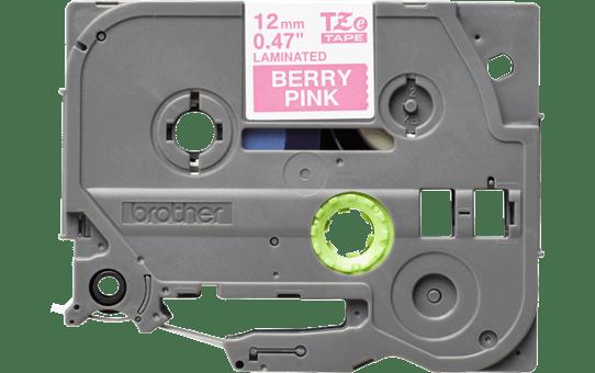 Brother TZe-MQP35 hvid på pink-tape – 12 mm bred 2