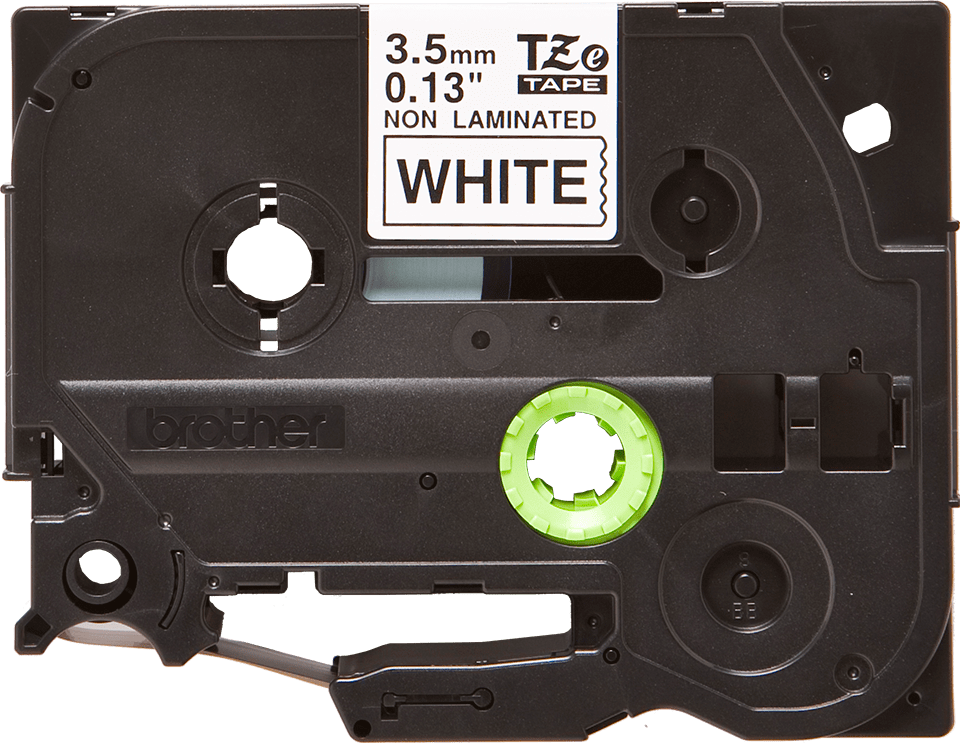 Genuine Brother TZe-N201 Labelling Tape Cassette – Black on White, 3.5mm wide 2