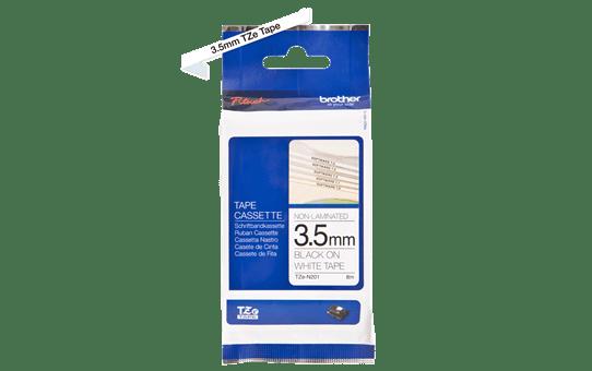 TZe-N201 ruban d'étiquettes non-laminées 3,5mm 3