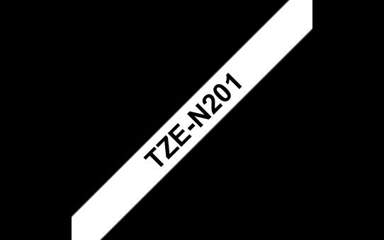 Original Brother TZeN201 ulaminert merketape – sort på hvit, 3,5 mm bred