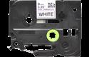 Oryginalna nielaminowana taśma TZe-N221 firmy Brother – czarny nadruk na białym tle, 9mm szerokości 2