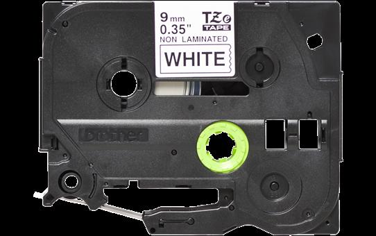 Original TZe-N221 Schriftbandkassette von Brother – Schwarz auf Weiß, 9mm breit 2